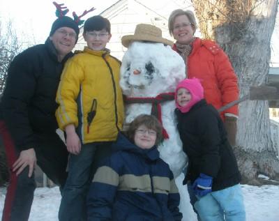 Fam pic snowman