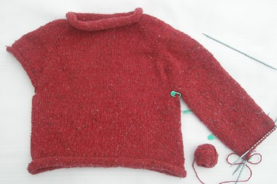 Sweater progress web