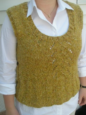 Skye tweed vest front web