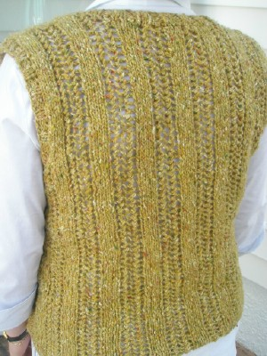 Skye tweed vest back web