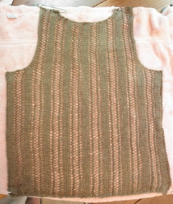 Tan vest back web