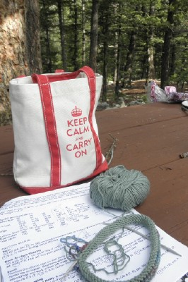 Camping knitting web