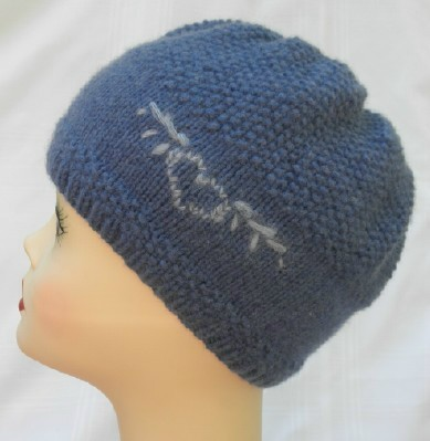 Winged knit hat web