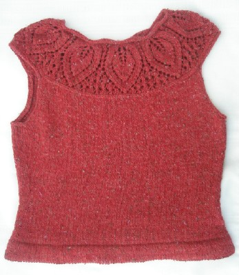 Red leaf sweater web