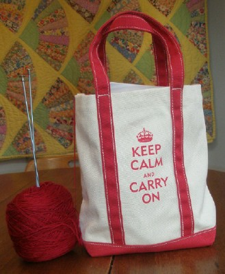 Keep calm bag web