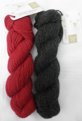 Flame mitten yarn web