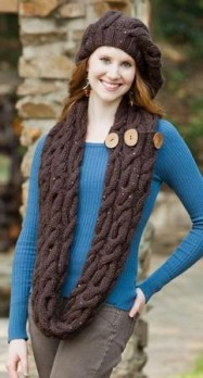 Cable slouch hat